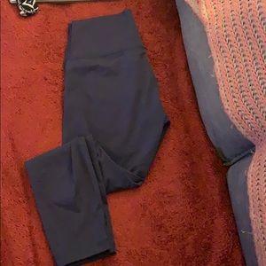 Lululemon navy thin yoga pants size 10